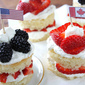 Blackberry & Strawberry Lemon Cakes Recipe for Fourth of July & Canada Day Recipe