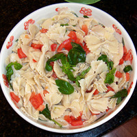 Homemade Farfalle Pasta Salad for July 4th