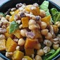 Butternut Squash and Chickpea Salad with Walnuts and Roasted Garlic-Balsamic Vinaigrette