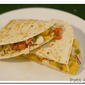Chicken and Peach Pepper Salsa Quesedillas