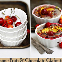 {Baking} STONE FRUIT & CHOCOLATE CLAFOUTIS ... with flaxseed!