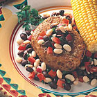 America's cut with black and white salsa