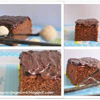 Chocolate & Orange Cake with Dark Chocolate Ganache.