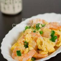 Stir-fried Prawns with Eggs (滑蛋蝦仁)