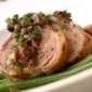 BBQ Rolled loin of lamb with olive & mint salsa