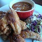 Maryland Fried Chicken Wings, Baked Beans with Applewood Smoked Bacon and Cole Slaw