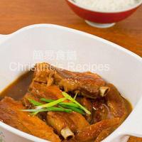 Stewed Pork Ribs in Orange Juice (橙汁肉排)