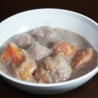 Ginataan with Bilo Bilo and Sweet Potatoes