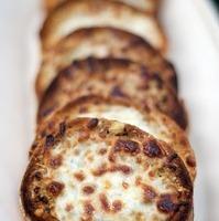 Garlic Bread with Mozzarella and Parmesan