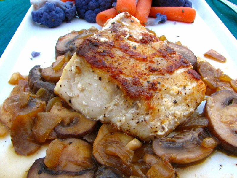Pan-Seared Sea Bass in a Marsala Sauce Recipe by Baking ...