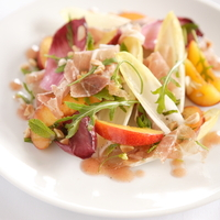 Nectarine, Prosciutto, and Belgian Endive Salad With Honey-Thyme Vinagrette