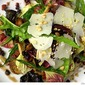 Warm Chicory Salad with Wild Mushrooms, Manchego and Pancetta Vinaigrette