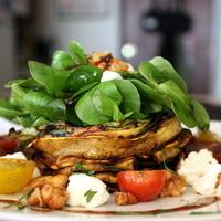 Grilled Zucchini Salad with Colorado Cherve, Tomato & Spiced Walnuts
