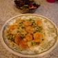 Shrimp, Couscous, Peas & Pistachios