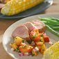 Boy Meets Grill - Grilled Pork Tenderloin with Fresh Peach Salsa