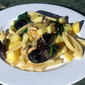 Summer pasta with Strozzapreti , Arugula, Potatoes & Mussels