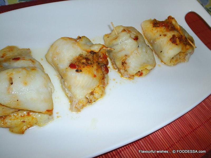 Basa Fish Filet Stuffed 39 Pindjur 39 Rolls Recipe By Claudia