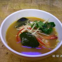 Spice Prawns soup with Lemongrass