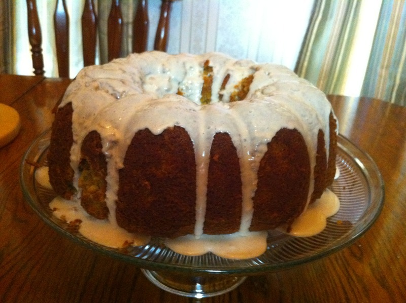 Carrot Bundt Cake with Cinnamon Glaze