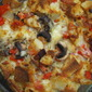Tomato, Bacon and Mushroom Strata