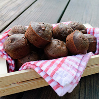 Double Chocolate Zucchini Muffins and ideas for school lunch