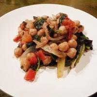 Warm Chickpea and Greens Salad