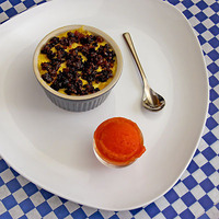 Sweet on Corn- A Farewell to Ears: Corn Brulee & Tomato Sorbet