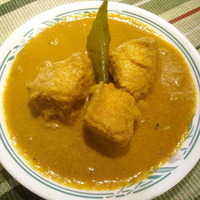 Fish curry in coconut paste