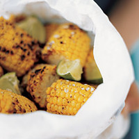 Grilled Corn with Chili Powder and Lime