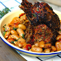 Rack of Pork and Beans