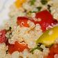 Insalata di quinoa e peperoni al peperoncino Rocoto