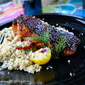 Broiled Salmon, Lavender Balsamic Reduction, Couscous & The Organic Giveaway!