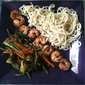 Soba Noodles with Grilled Shrimp (w/Organic Chinese Long Beans)