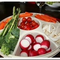 Fresh Vegetable Tray and a reflection on Organic Food