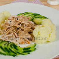 Warm Handpull Chicken Salad with Sesame Dressing (Thanks to gourmettraveller88)