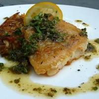 Pan Fried Alaskan Cod with Caper Butter