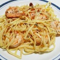 Lemon-butter Linguini with Peppery Shirmp