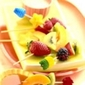 Fruit skewers with Maple Sauce