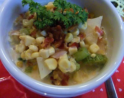 Roasted Corn and Bacon Chowder