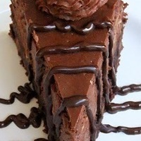 Hershey's Special Dark Truffle Brownie Cheesecake