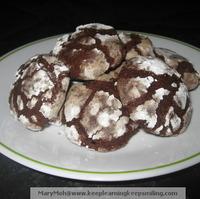Chocolate Crinkle Brownie Cookies