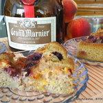 PEACH berry Grand Marnier cobbler torte cake