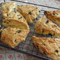 Sour Cherry, White Chocolate and Almond Scones