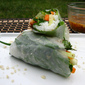 Spring Rolls, Chicken Satay & a Peanut Dipping Sauce