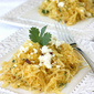 Southwestern Spaghetti Squash Recipe with Chipotle Peppers, Cilantro & Queso Fresco Cheese