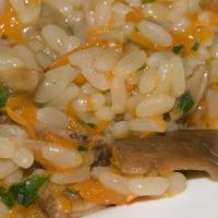 Risotto piccante con zucca e funghi porcini al peperoncino datil