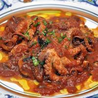 «Polpetielli» affogati (Baby Octopus Braised in Tomato Sauce)