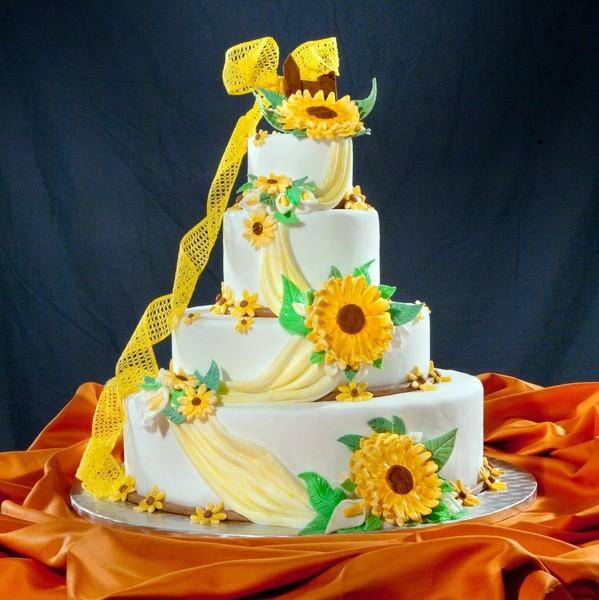Torte Matrimonio Girasoli : Ricetta torta girasoli alla crema di cantalupo cookeatshare