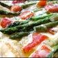 Asparagus, tomato and gruyère tart