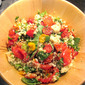 Tomato Party with Crispy Couscous Croutons